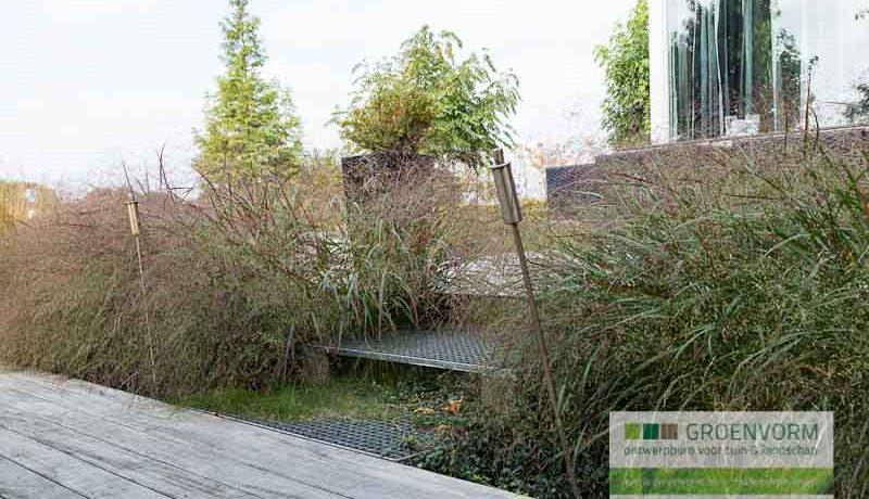 Waterlijn als eigen rak groenvorm tuinontwerp for De eigentijdse tuin