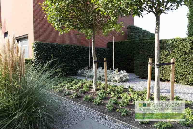 Cassiopeiadreef tuinvoorbeeld eigentijdse tuin groenvorm tuinontwerp